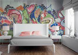 Graffiti murals, Quirky wallpaper, Mural