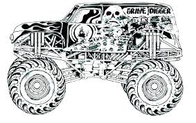 Monster Truck Color Pages Monster Trucks Coloring Pages Printable