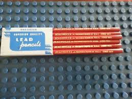 Red Checking Vtg Reliance Pencil Co Magnolia Red 2360 Colored Thick