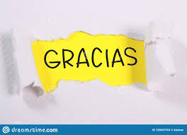 Gracias Motivational Words Quotes Concept Stock Photo Image Of