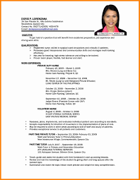 Sample Resume For Experienced Candidates In Bpo New Sample Resume