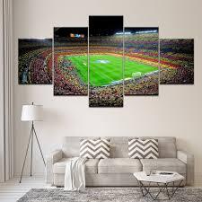 Canvas Schilderij Spanje Fc Barcelona Sport Voetbal 5 Stuks Kunst
