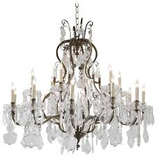 large french bronze and crystal chandelier with 18 lights for