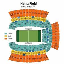 Steelers Seating Chart With Rows 2 Tickets Bengals At Steelers Lower Level Section 143 End