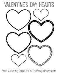 Valentine Hearts Coloring Pages Valentines Day Heart Coloring Sheets