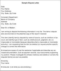 sample credit report letter format writing regarding credit dispute letter template