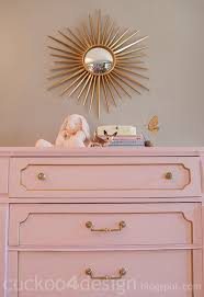pink painted furniture. pink and gold nursery dresser by cuckoo4design painted furniture s