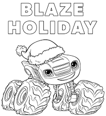 Blaze Holiday And The Monster Machine Coloring Pages 1024 X 1118