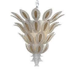 pineapple art deco luxury crystal chandelier