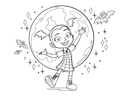 Free disney halloween coloring pages for you to save or print. Vampirina Coloring Page Disney Lol