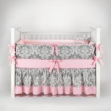 pink and grey crib bedding sets for baby girls nursery