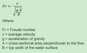 froude number equation. formula to calculate the froude number in a fllume equation r