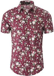 uxcell <b>Men Summer Floral Printed Short Sleeves</b> Shirt Button Down ...