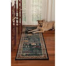 folk art family rug in 2 3 x 7 x6
