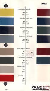 Bmw Mini Colour Chart Bmw Paint Chart Color Reference