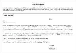 Job Resignation Letter Template Sample Resignation Letter Template Doc Metabots Co