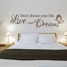 e vinyl wall art sticker don t dream your life live your dreams
