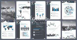 Annual Report Template Design Magnificent Elements Of Infographics For Report Template And Presentations