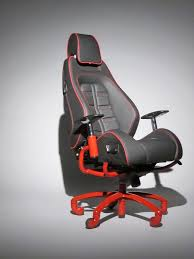 authentic ferrari office chair from racechairs made using the actual seat from a real ferrari f430