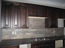 stone kitchen backsplash dark cabinets. Exellent Dark Fascinating Backsplash Tile With Dark Cabinets Including Kitchen Stone  Inspirations Pictures In H