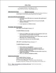 Medical Assistant Resume Objectives Objective For Medical Resume Objective Medical Assistant Resume 12