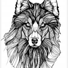 Small Picture Wolf Coloring pages Coloring pages for adults JustColor