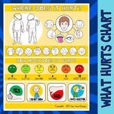 What Hurts Chart Visual Support Pecs Medical Health Injury Illness Pain Autism