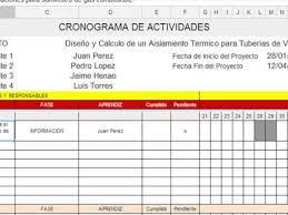 formato cronograma de actividades mensual como elaborar un cronograma de actividades youtube