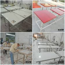 green top solid surface table restaurant kfc mcdonald table for 4