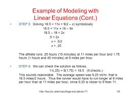 modeling with linear equations jennarocca