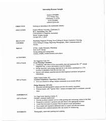 Resume Template For Internship Best Resume Templates For Internships 44OZX 44 Sample Internship Resume
