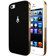 iphone 5s gold and black. iphone 5 / 5s leaux comfort series luxury designer leather case - gold black iphone 5s and