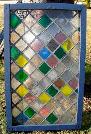 damaged faux stained glass window