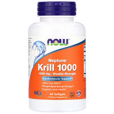 <b>Neptune Krill 1000</b>, <b>Double</b> Strength, 1,000 mg, 60 Softgels - iHerb
