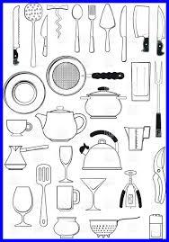 kitchen utensils list. Restaurant Kitchen Equipment List Marvelous Tableware Utensils Silhouettes Vector Image Picture Of G