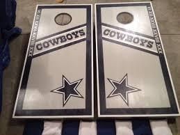 Dallas Cowboys Checks Designs Lets Go Cowboys Dallas Cowboys Retro Corn Hole Set Check