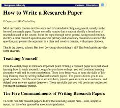 How To Write A Paper Stunning Five Commandments For Writing A Good Research Paper Short Article