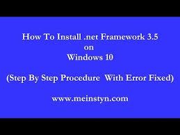 net framework 3 5 installation error