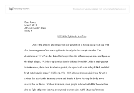 Aids and hiv essay