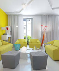 Yellow And Gray Living Room Interior Yellow And Gray Decor Room Ideas Yellow Wall Art