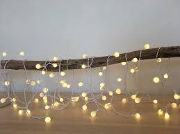 White Cord Led String Lights Amazon Com Elumining Outdoor White Fluopearl Led String
