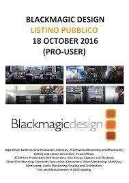 Blackmagic Design H 264 Pro Recorder Live Streaming Blackmagic Design Pubblico 18 Oct 2016 Manualzz Com