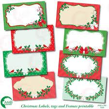 Christmas Clipart Christmas Digital Tags Amb 1500
