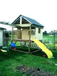 wooden swing set kits plans wood n slide kit home depot s