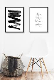 Minimalist Wall Art Black Poster Printable Wall Art Scandinavian Interior  Abstract Lines Black and White Gallery Wall Download Print