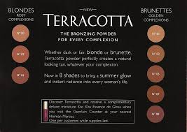 Terra Cotta Color Chart Guerlain Terracotta Bronzing Powder Color Chart Guerlain