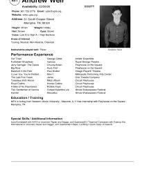 Theatre Acting Sample Resume Excellent Actors Resume Format Templates Child Actor Headshot 19