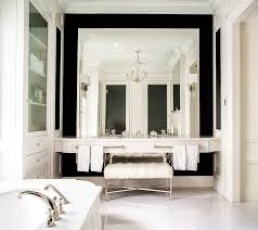 double floating washstand lining full length mirror