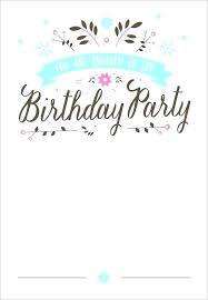 Birthday Invitation Cards Templates Party Invitation Card Template Thepostcode Co