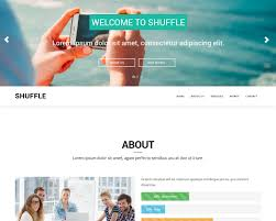 Bootstrap 3 One Page Template For Free Shuffle
